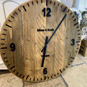 Large Wooden Handmade Clock 70cm