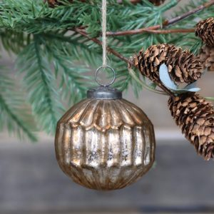 Antique Champagne Christmas Ball – Barrel