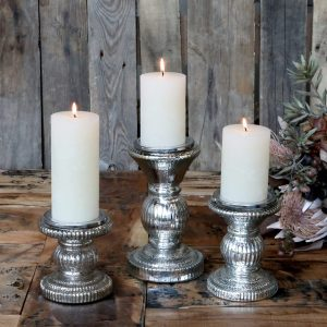 Small Candlestick With Grooves H12.5cm