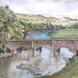 Grassington Bridge Framed Print
