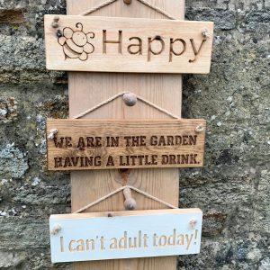 Rustic Small 30cm Wooden Sign – I Cant Adult Today