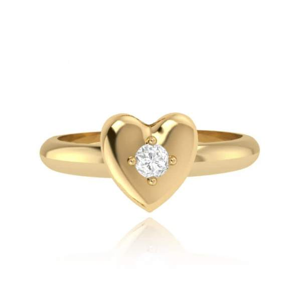 JOMA Jewellery – Heart Infinity Ring – Gold