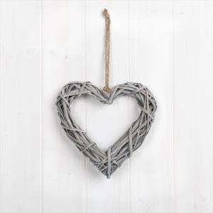 Grey Willow Heart 20cm