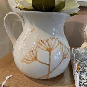 Hand-painted Large Dried Cow Parsley Jug