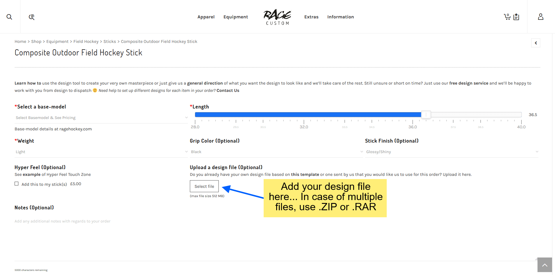 How to place a custom order if you have a design file?