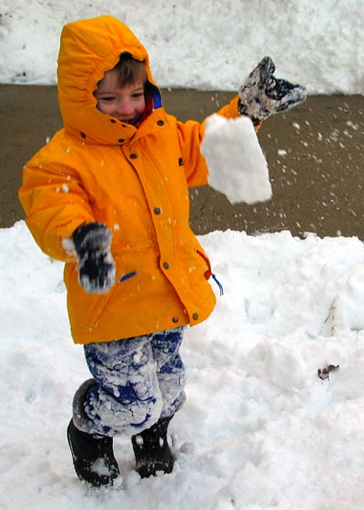 Jack throwing snow