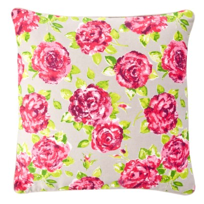 Polly Floral Cushion Taupe from Ragged Rose