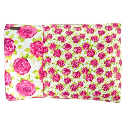 Dulcie Double Duvet Set Pink and White Roses