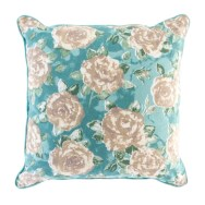 Polly Floral Cushion Duck Egg
