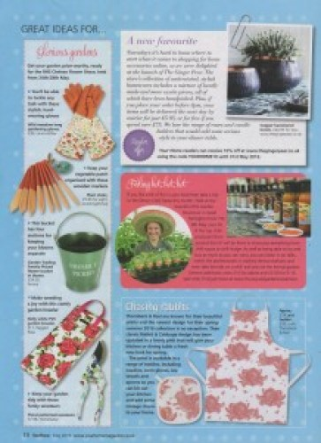Your Home Magazine May 16 Garden Kneeler Ragged Rose