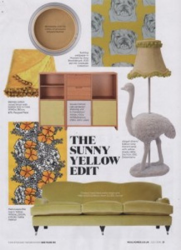Real Homes July 2016 Yellow Throw Ragged Rose