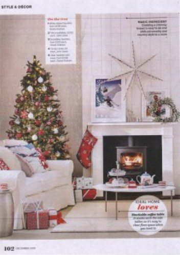 ideal home december 2016 christmas stocking ragged rose