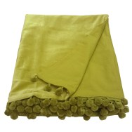 lime green velvet throw