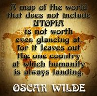 Utopia Map by Oscar Wilde, The Soul of Man Under Socialism (www.davyking.com)