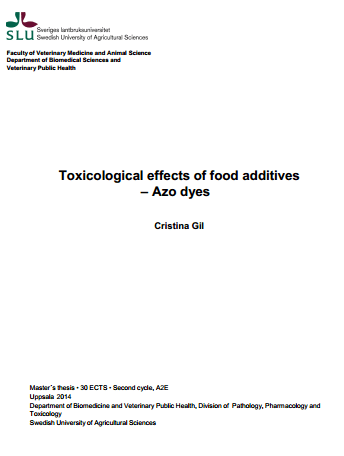 Toxicological Aspects of Food Additives Azo Dyes by Christina Gil