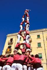castells, human towers in Tarragona, Spain