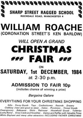 William Roache supports Ragged Schools
