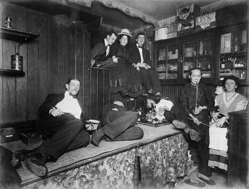Drug Addicts in Chinatown Opium Den