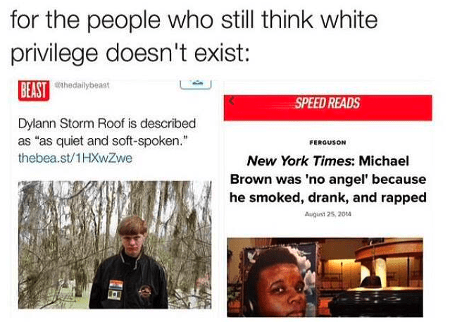 Facebook Grab on white privilege