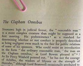 The clapham omnibus