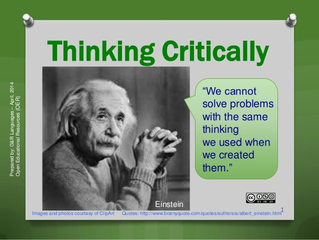 Thinking critically