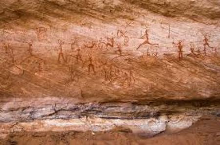 Pictograms of Tadrart Acacus in Libya