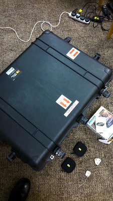 Sealed, the flycase is water tight and secure