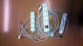 Straightforward four way plug adaptors allow for set up anywhere