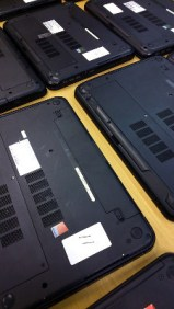 Each laptop is numbered for administration and administration purposes