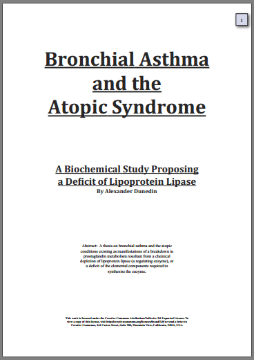 Bronchial Asthma thesis by Alex Dunediin