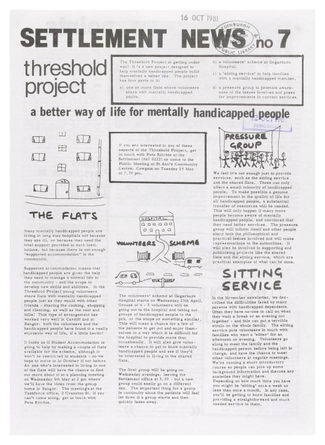 Edinburgh settlement news on psychiatry