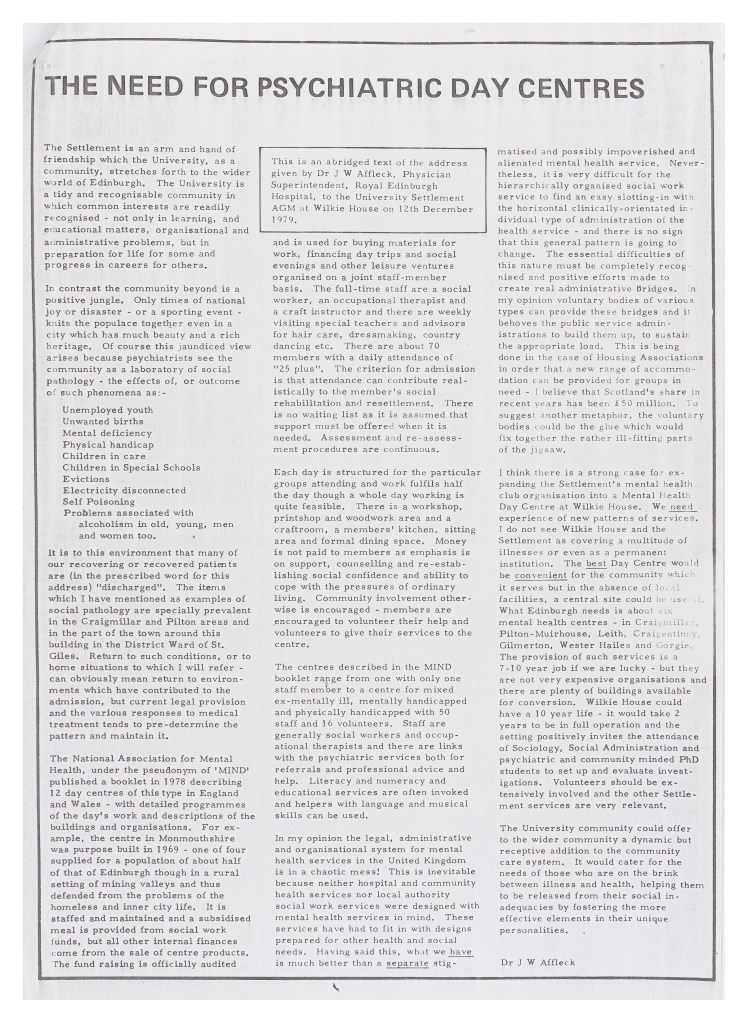 1980: Edinburgh Settlement