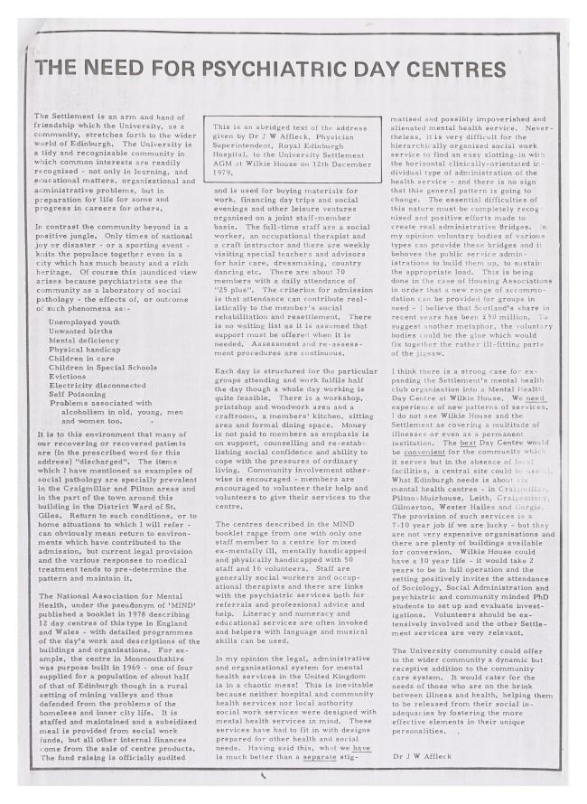 1980 Edinburgh settlement news