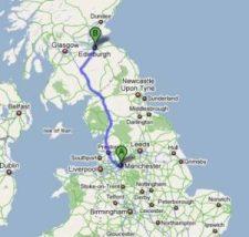 Manchester to Edinburgh