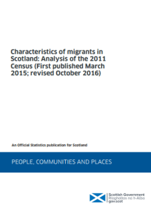 Click to Download: 'Characteristics of migrants in Scotland; Analysis of the 2011 Census'
