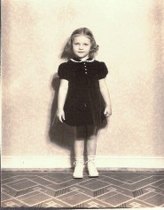 old photo of little girl