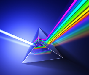 Spectrum in a prism