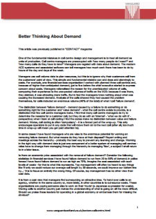 Click to Download 'Better Thinking About Demand' by Prof John Seddon