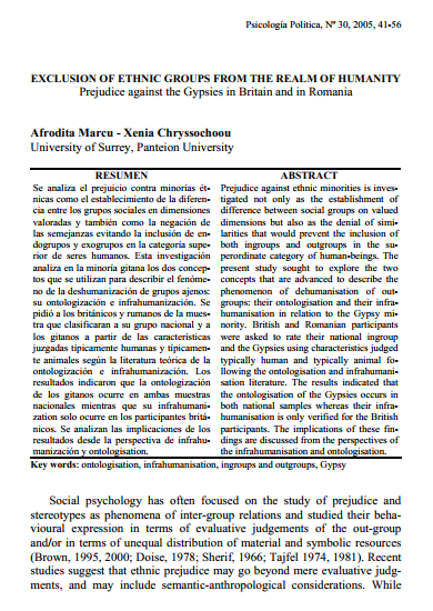 Click to Download: 'Exclusion of Ethnic Groups from the Realm of Humanity'