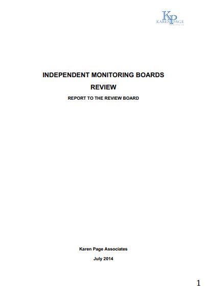 Karen Page Associates Independent Monitoring Boards 2014 report