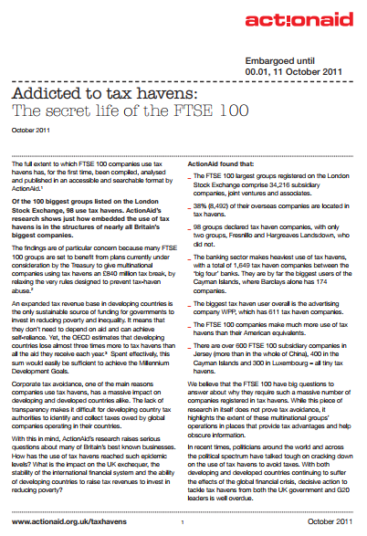 ActionAid: Addicted to tax havens