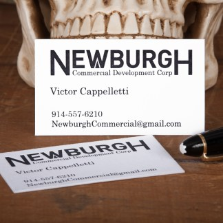 Raghaus Studios Letterpress business card Newburgh Development