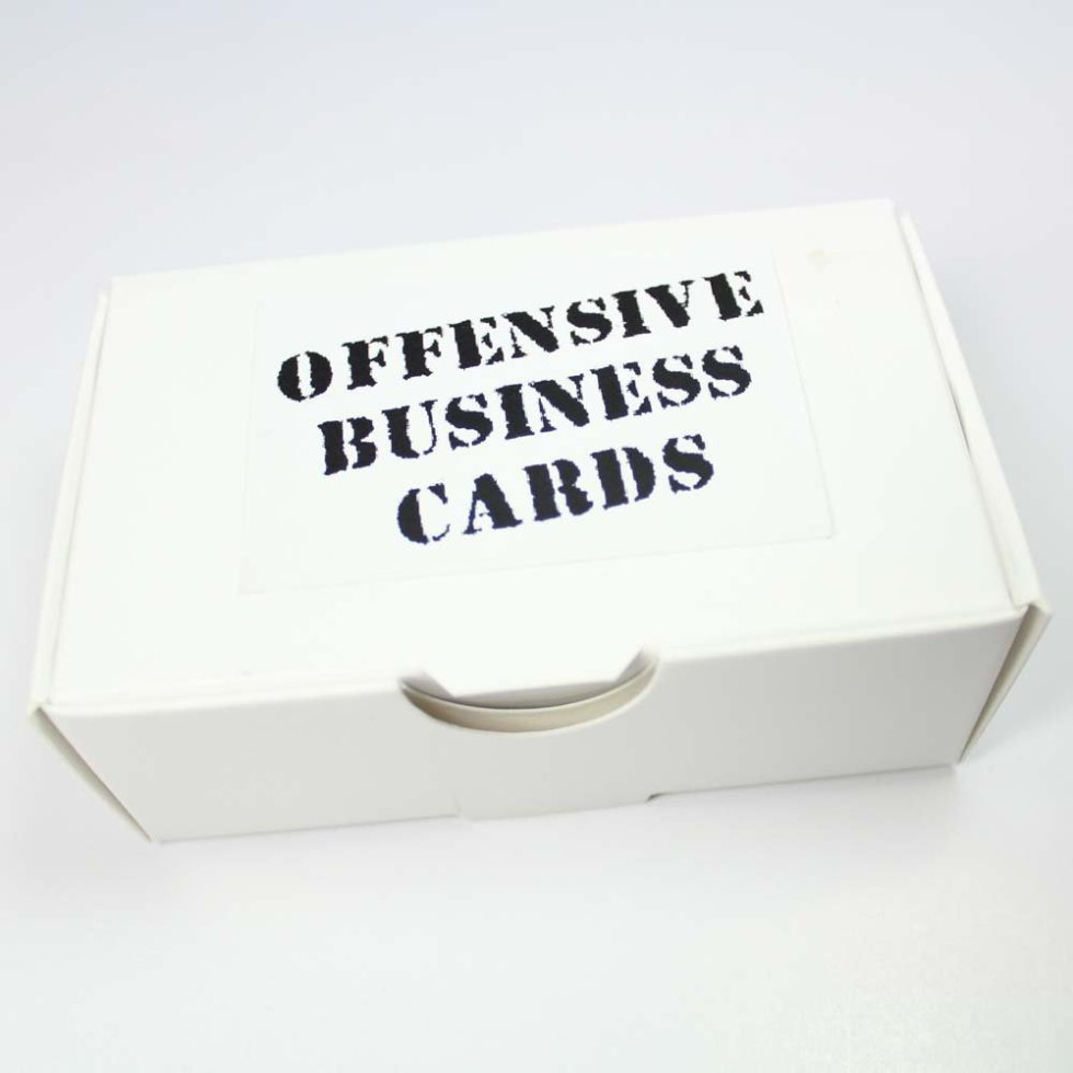 offensive business cards collection