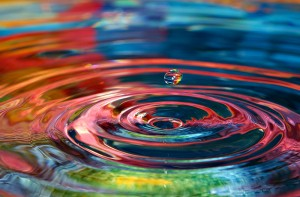 Colorful Water Ripples
