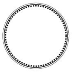 A circle with each point highlights all around the circle noting the presence of multiple points from which to view the center