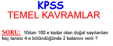 kpss temel kavramlar soru ve çözüm