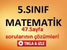 5.sınıf matematik 47.sayfa