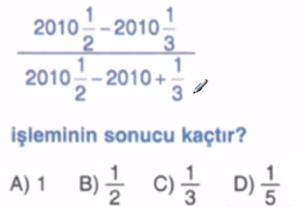 rasyonel sayılarda işlemler