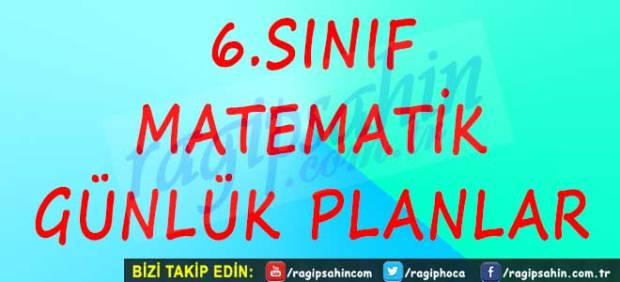 6 Sinif Matematik Gunluk Planlar Ragip Sahin Ortaokul Matematik