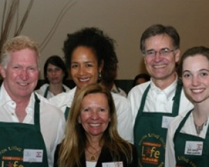 l-r: Volunteer servers Terry Ragon, Marylyn Addo, Susan Ragon, Bruce Walker, and Kate Walker.